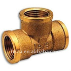 CNC precision brass cross threaded pipe fittings