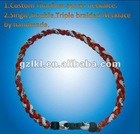 2012 Lekon Toronto Fashion Titanium necklace Braid with double and triple ropes