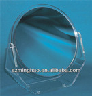 free standing acrylic cosmetic mirror display; acrylic desktop home mirror stand