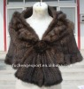 Ladies' Mink Knitted Waistcoat