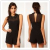 Playsuit With Embellished Collar,ladies jumpsuit
