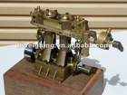 Twin cylinder double acting steam engine