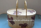 wholesale printed bamboo basket for home decoration