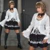 Dolly Harajuku Cute Mini Jackets coat Plaid 61074