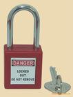 keyed to alike, long shackle ABS safety padlock