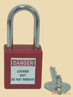 keyed to alike, long shackle ABS safety padlock