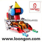Loongon toy transformer super space ship merging 5 individual geometric robots with light and sound gundam
