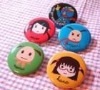 Cute round pin badges