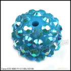 Wholesale Brown Charms Ball Spacer Pave Crystal Disco Ball Beads 110018