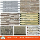 stone brick mosaic tile strip