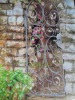 exterior wrought iron small garden gate {HB-G201}