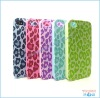 The Leopard grain embossed print hard mobile phone case for Iphone 4g/4gs