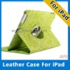 360 degree rotated/swivel leather case for Ipad2 with multi view angle
