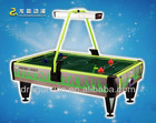2012 new and attractive designed coin operated electric superior folding kids game soccer air hockey table fan