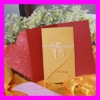 High quality Elegant Embossing Wedding Card--Western Style Rose Desgin Wedding Invitation Card with Ribbon Decoration MIC