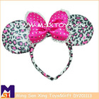 MN fashionable bowtie leopard&sequin hairband head bands