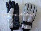 ski glove with polyester wadding lining