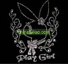 Cut rascal rabbit iron on design for girls