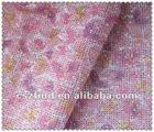Printed glitter mesh fabric