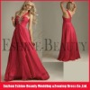 2012 popular swarovski beaded one shoulder red chiffon high low prom dresses
