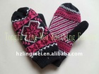 Jacquard winter mittens knitted glove LM-GL-031