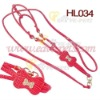 HL034 Dog Leash PU Material Red Color MOQ is 1000pcs/size/color Drop Shipping