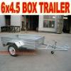 Box Trailer 6 x 4.5 Galvanized Box Trailer