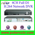 4CH Full D1 Digital Video Recorder Real-time DVR