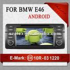 Special car dvd player For bmw e46 brake steering bluetooth Canbus car ipod iponhe dvb-t usb sd card with free map