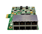 8 Rj-45 ports ethernet switch card