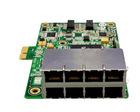 8 Rj-45 ports ethernet switch card
