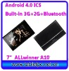 Global first 7inch Allwinner A10 bluetooth GSM tablet phone 1G 8G (7A14)