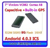 Capacitive GPS 7inch tablet pc android 4.0 ICS 512M 8G(708)