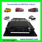 4ch H.264 GPS and 3G Mobile DVR with G-shock for Bus and Truck