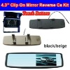 4.3'' Clip On Mirror Car Reversing Camera Kit