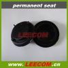 black plastic permanent seat