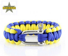 Paracord Survival Bracelet with Dee Shackle