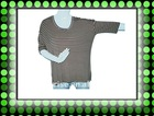 women`s yarn dye loose t shirt,3/4 sleeve tshirt,home wear