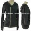 Women's Zipper Long Sleeve Hood Asymmetrical Closing Sweater