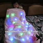 fashion colorful led lighted blanket