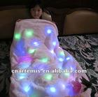 fashion colorful led lighted blanket