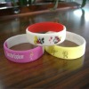 2011 hot selling fashion 100% silicone bracelet