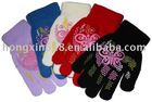 magic gloves/magic gloves with rubber print/ Acrylic gloves/warm gloves