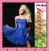 Astergarden 2011 stock strapless organza beaded graduation dress O