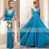 Coniefox Elegant Blue V-Neck Popular Factory Direct Bridesmaid Dress 81265