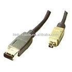 High Speed IEEE 1394 cable with 4P M /6P M connector