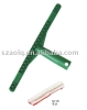 "16"" solid black/green T shape cleaner holder"