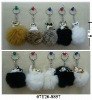 Lovely Cat & Dog handCraft of rabbit fur -keychain ! BEST PRICE!