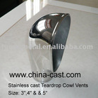 Stainless Steel Cast Teardrop Cowl Vents,marine cowl vent