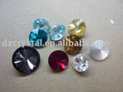 fashion 10mm octant Crystal diamond silver plated for jewelry